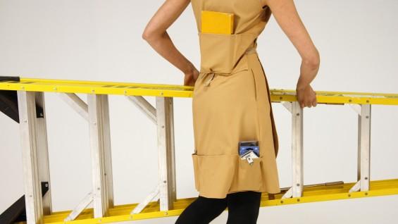 Work Dress (2007) cordura, canvas, cotton-denim blend size medium. Photo by Martyna Szczesna.