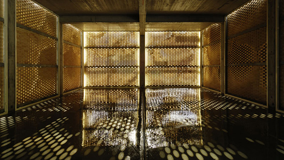 Gramazio Kohler Architects: Interior, Winery Gantenbein, 2006, Fläsch  Photo credit: Ralph Feiner