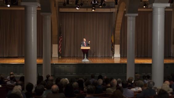 Professor Burt Neuborne in the Great Hall