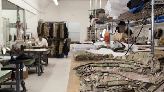 Crye Precision assembly room