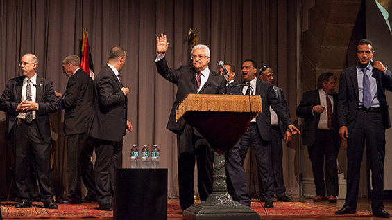 Mahmoud Abbas, president of Palestine, bids farewell in The Great Hall