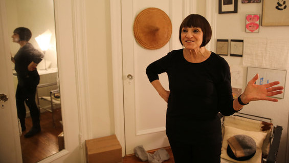 Diana Agrest at her home studio. Photo courtesy LA Johnson/NPR