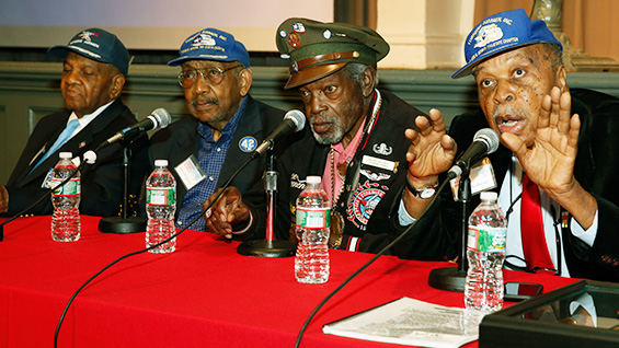 Bill Johnson, Dabney Montgomery, Julius Freeman and Richard Braithwaite in The Great Hall