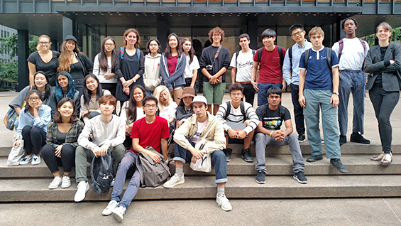 The Fall 2017 Architectonics Studio in front of the Seagram Building