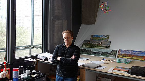 Alan Wolf in his office