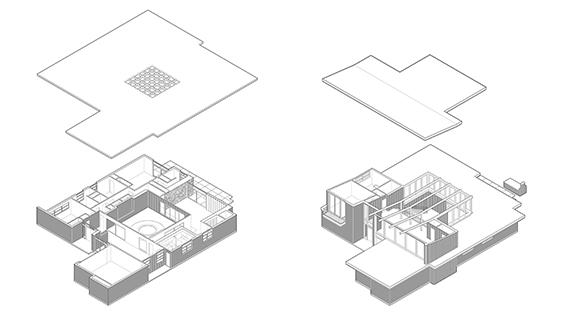 Axonometric Drawings, Chase House. Image courtesy of David Heymann.