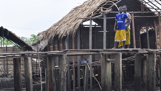 Stilt housing in the Bakassi peninsula. Photo courtesy of Eze Imade Eribo