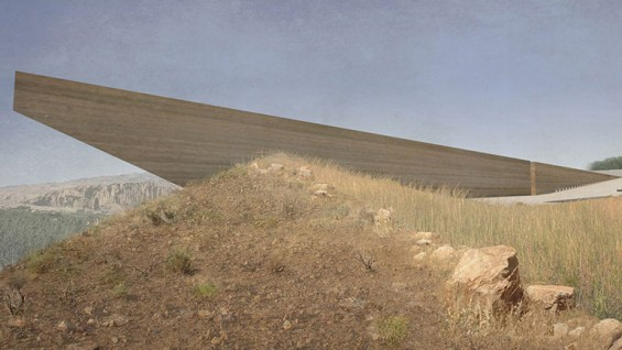 NADAAA, Bamiyan Cultural Centre, Afghanistan, 2015. Project. Rendering by NADAAA.
