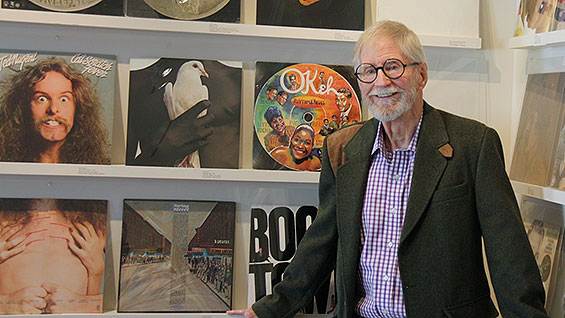 John Berg at his Guild Hall exhibition. Photo by Durrell Godfrey