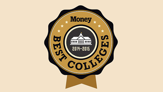 Money magazine Best Colleges badge