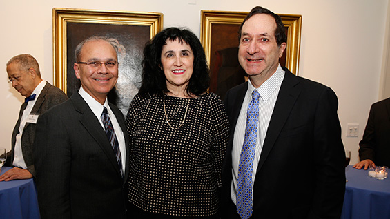 President Jamshed Bharucha with Bobbie Sue Daitch and David Landau. Photos by Michael Divito<br><br>