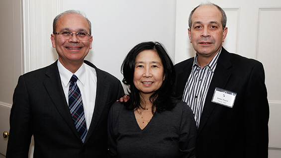 President Jamshed Bharucha with James and Shirley Suazo<br><br>