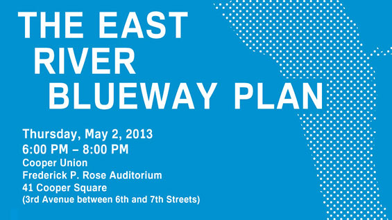 East River Blueway Plan poster