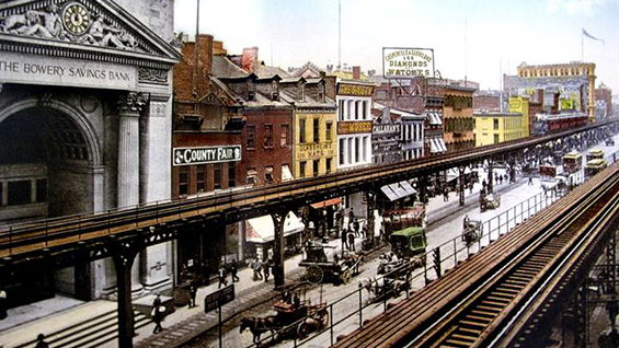 Postcard of the Bowery El
