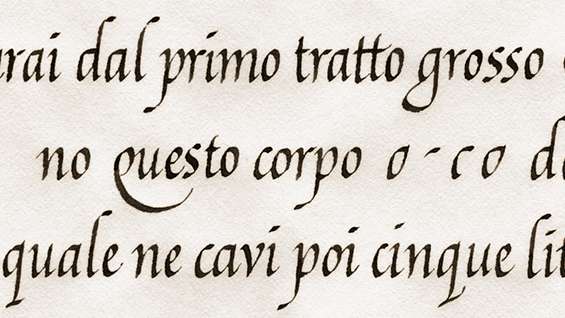 Calligraphy The Italic Hand The Cooper Union