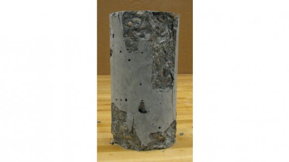 Concrete Test Cylinder with Super-plasticizer Loaded to Failure