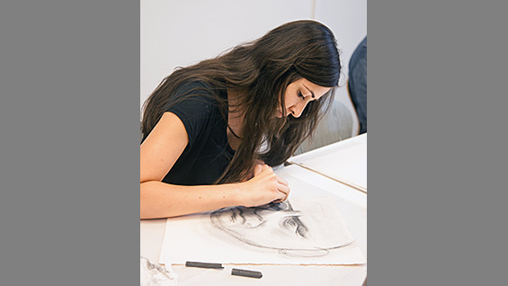 A student at Cooper Union's Continuing Education program
