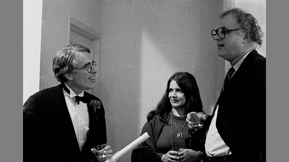 Peter Eisenman, Gloria Fiorentino and John Hejduk at the IAUS. Photo by Dorothy Alexander