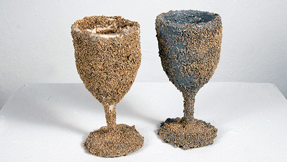 'Table with Cup' (2012); Ceramic