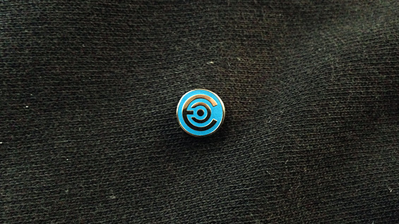 Epicenter Pin. Photo courtesy of Epicenter