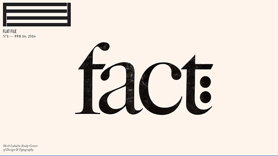 A screen from the Flatfile examination of Herb Lubalin's design for 'Fact:' magazine
