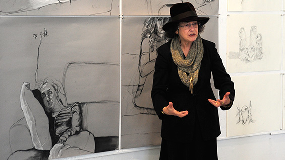 Sue Gussow, Professor Emerita, teaching at The Cooper Union in 2012