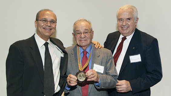 President Bharucha, Paul Heller (ME'53) and Mike Borkowsky (ME'61)