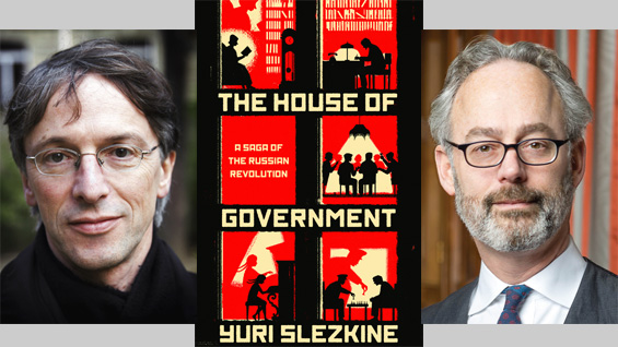 Yuri Slezkine (l) and Amor Towles. Yuri Slezkine photo by Laurent Denimal. Photo of Amor Towles by David Jacobs