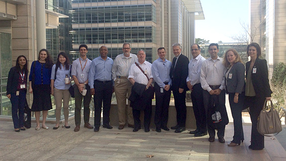 Representatives of Cooper, including Acting President Bill Mea, traveled to Houston to meet with alumni at ExxonMobil