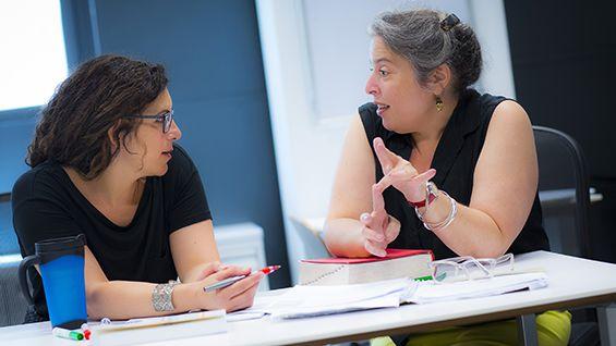 Gwen Hyman & Martha Schulman in the Center for Writing