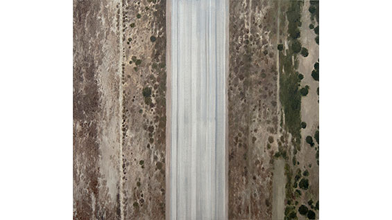 'Highway 5' by Ida Badal; oil on wood panel