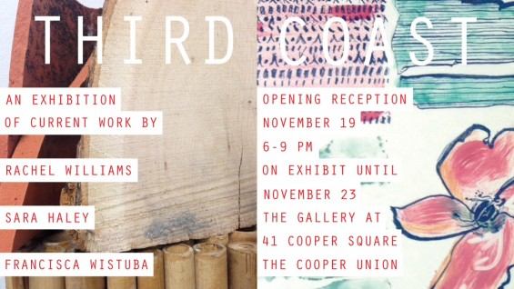 Opening Reception | Third Coast | Sara Haley, Rachel Willams & Francisca Wistuba