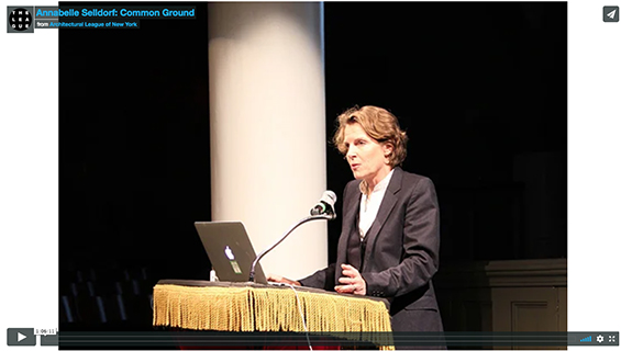 Annabelle Selldorf presentation video documentation thanks to The Architectural League of New York.