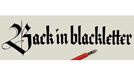 Back in blackletter Calligraphy Workshop
