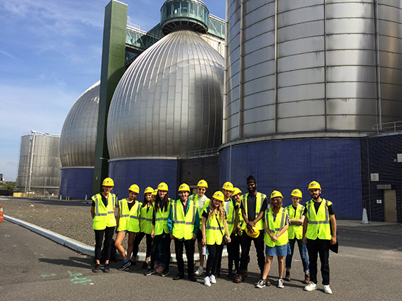 Urban Ecology field trip class (Con-Edison, Newtown Creek Wastewater Treatment Plant, SIMS recycling)