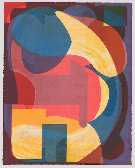 Diavolaki, Monotype, 29x22 inches, printed with 10 Grand Press in Santa Fe, NM