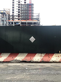 Construction site wall