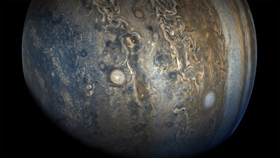 Clouds of Jupiter as revealed by the Juno probe, NASA