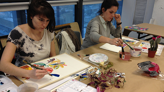 Intermedia Watercolor Workshop NYC with Josette Urso