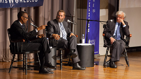 Pres. Kagame, Rabbi Shmuley Boteach and Elie Wiesel