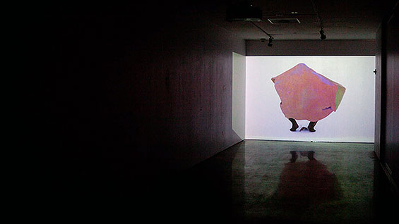 'Chroma-Choreography' (installation view) by Kathryn Marshall and Noemi Bilger