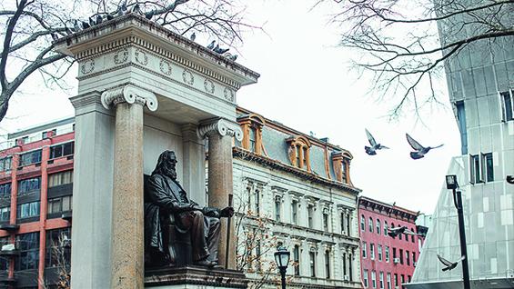 Peter Cooper Statue