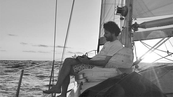 Diego Malquori crossing the Pacific in 2014