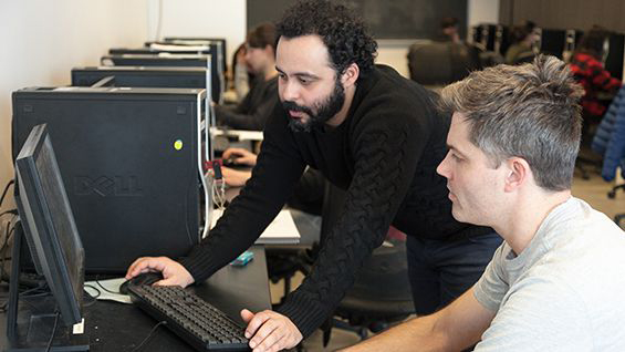 Carlos Meza teaches Digital 3-D Modeling class NYC