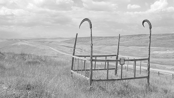 A lone grave in Kyrgyzstan. For more photos, enlarged, see at the bottom of the article. Photo courtesy Margaret Morton