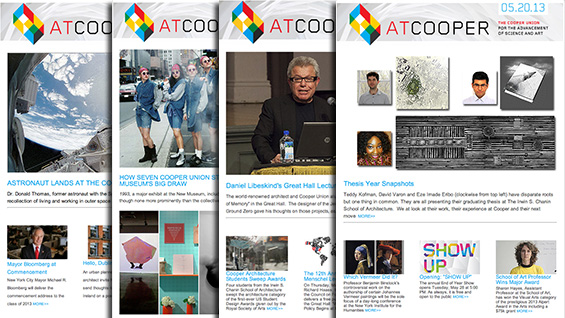 'At Cooper' newsletter examples
