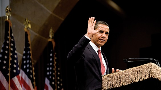 In 2008 President Obama, then a senator, gave a speech in The Great Hall