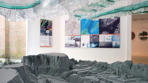 Installation view of the Palisade Bay research project