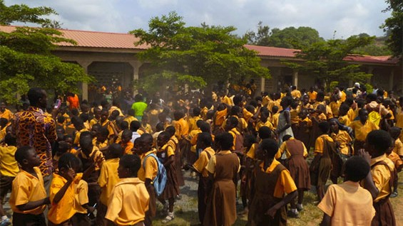 School children in Pokuase, Ghana