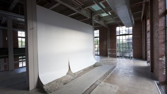Oscar Tuazon, 'Dead Wrong', 2011; concrete, steel, plywood, sheetrock.